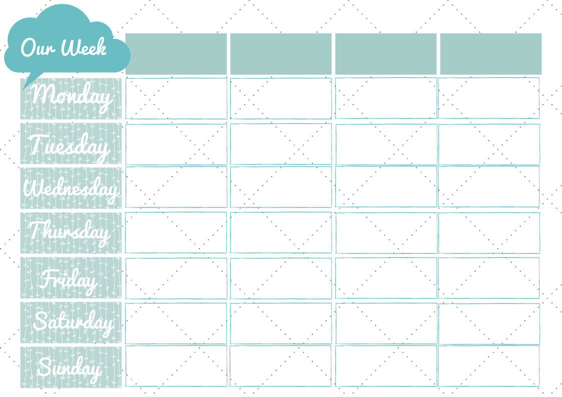 Lucrative image pertaining to weekly family planner